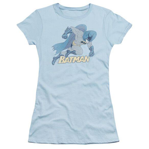 Batman Running Retro Short Sleeve Junior Sheer Light T-Shirt