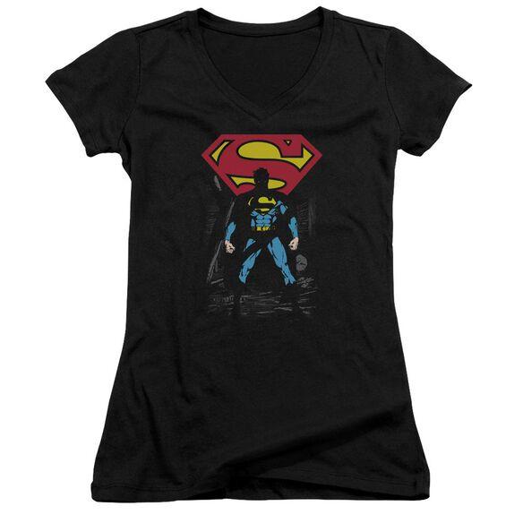 Superman Dark Alley - Junior V-neck - Black
