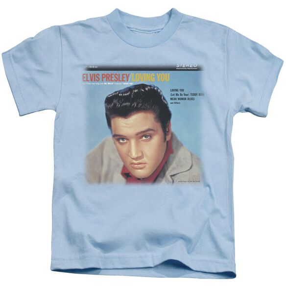Elvis Loving You Soundtrack Short Sleeve Juvenile Carolina Blue T-Shirt