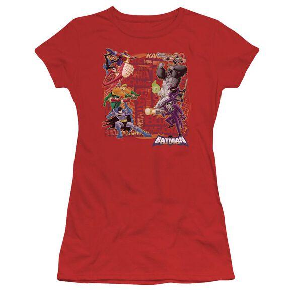 Batman Bb Good Vs Bad Short Sleeve Junior Sheer T-Shirt