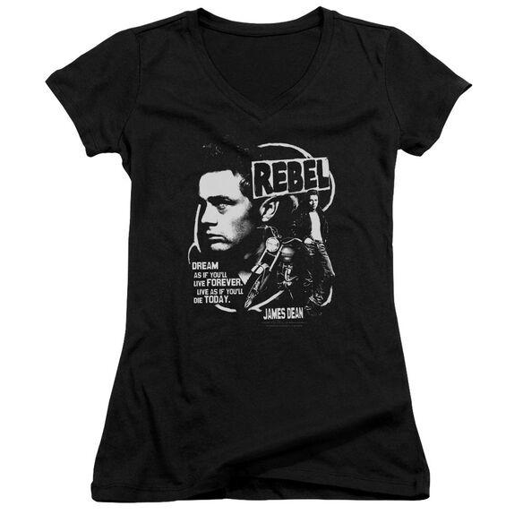 Dean Rebel Cover Junior V Neck T-Shirt