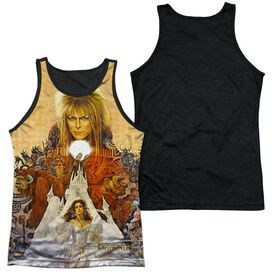 Labyrinth Cover Art Adult Poly Tank Top Black Back