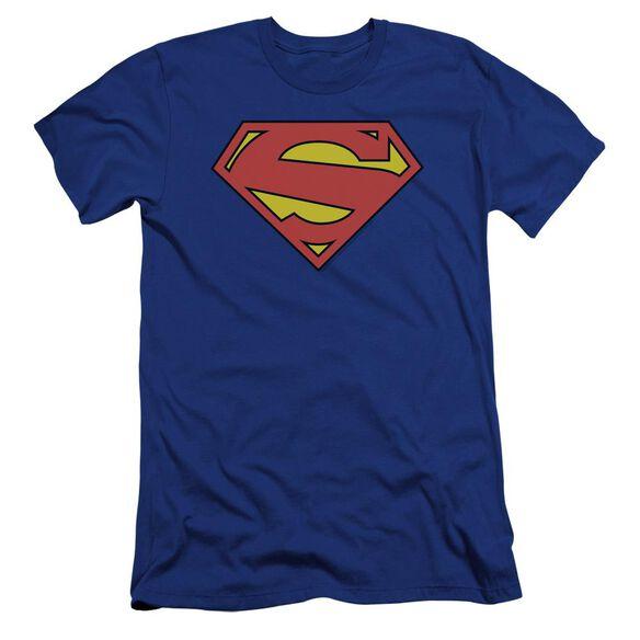 Superman New 52 Shield Premuim Canvas Adult Slim Fit Royal