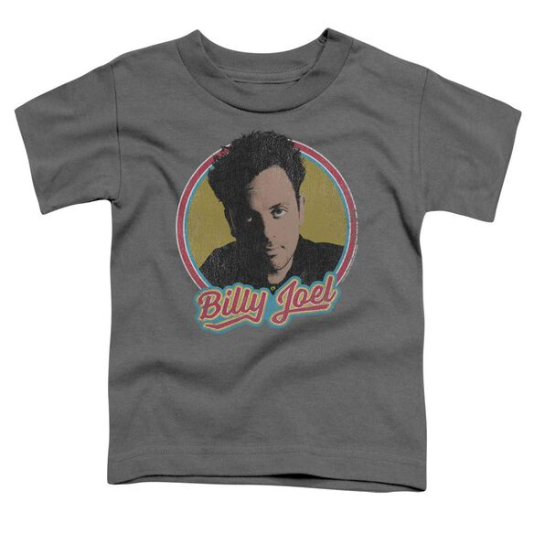 Billy Joel Billy Joel Short Sleeve Toddler Tee Charcoal T-Shirt