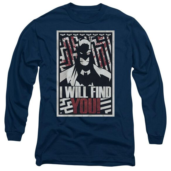 Batman I Will Fnd You Long Sleeve Adult T-Shirt