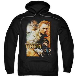 Tintin Adventure Poster Adult Pull Over Hoodie
