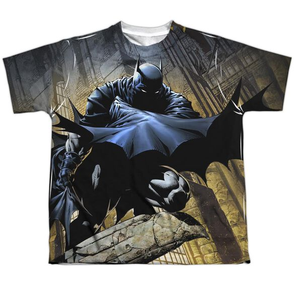 Batman In Shadow Short Sleeve Youth Poly Crew T-Shirt
