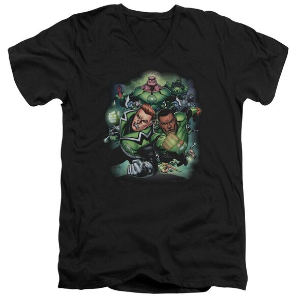 Green Lantern Corps #1 Short Sleeve Adult V Neck T-Shirt