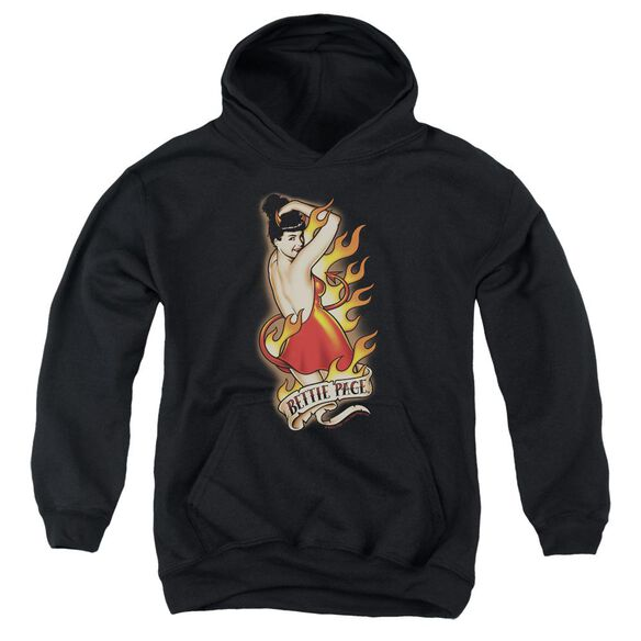 Bettie Page Devil Tattoo Youth Pull Over Hoodie