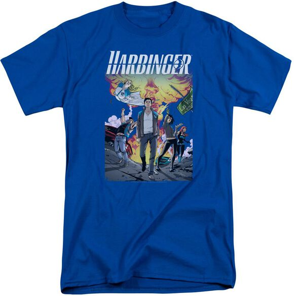 Harbinger Foot Forward Short Sleeve Adult Tall Royal T-Shirt