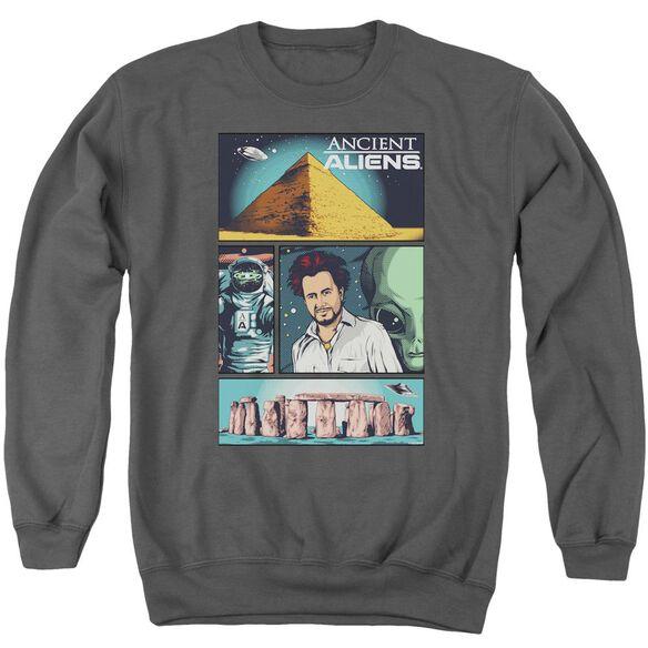 Ancient Aliens Aliens Comic Page Adult Crewneck Sweatshirt