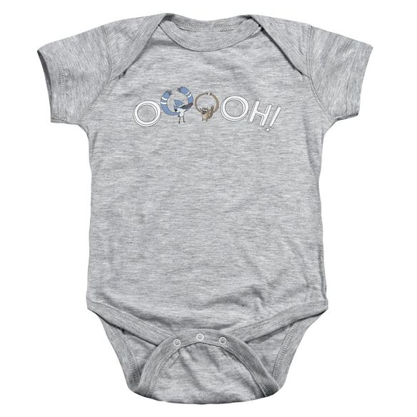 The Regular Show Ooooh Infant Snapsuit Athletic Heather