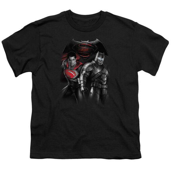 Batman V Superman Stand Off Short Sleeve Youth T-Shirt