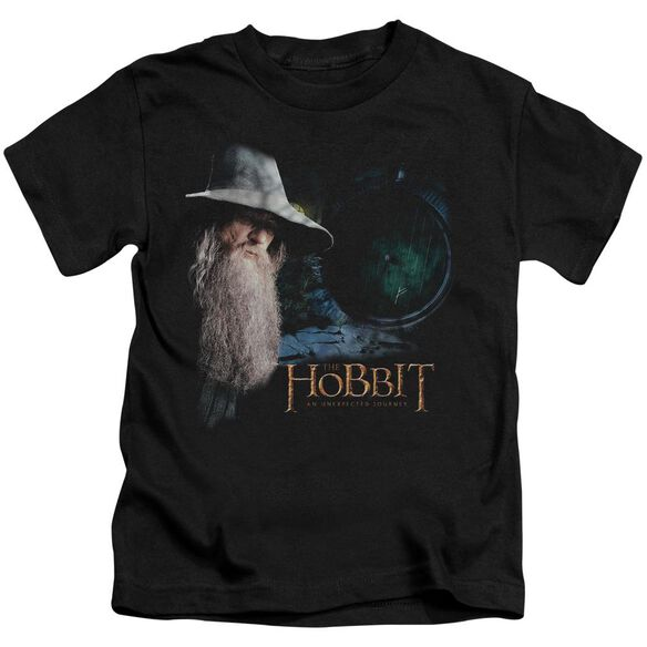 The Hobbit The Door Short Sleeve Juvenile Black T-Shirt