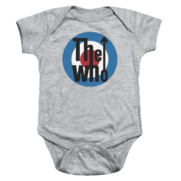 The Who Logo Infant Snapsuit Athletic Heather