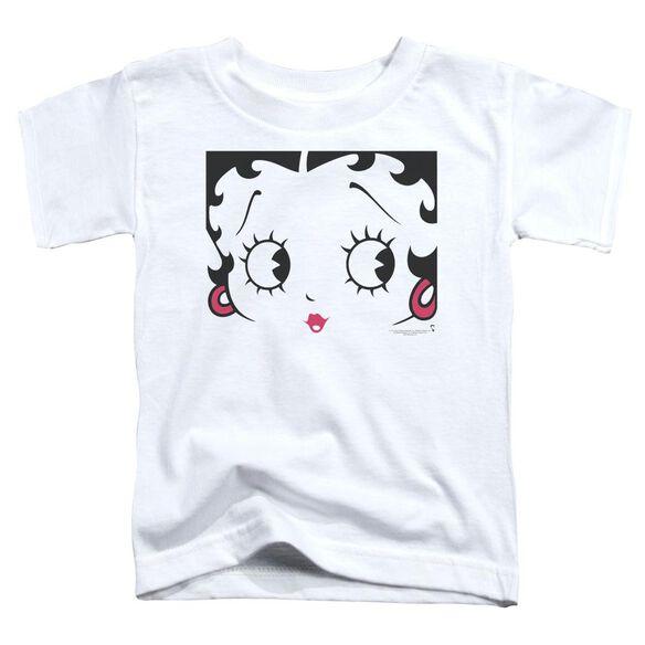 Betty Boop Close Up Short Sleeve Toddler Tee White Sm T-Shirt