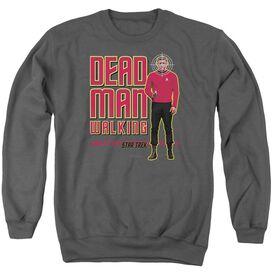 Star Trek Dead Man Walking - Adult Crewneck Sweatshirt - Charcoal