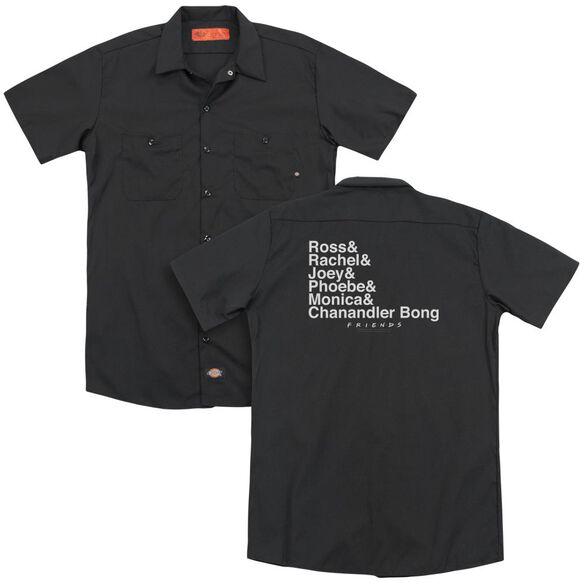 Friends Chanandler Bong (Back Print) Adult Work Shirt