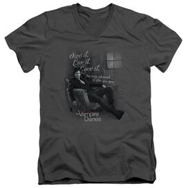 Vampire Diaries Be Yourself Short Sleeve Adult V Neck T-Shirt