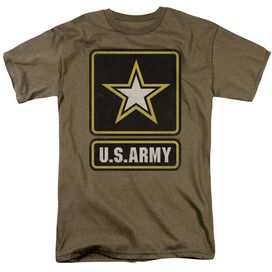 Army Big Logo Short Sleeve Adult Safari Green T-Shirt