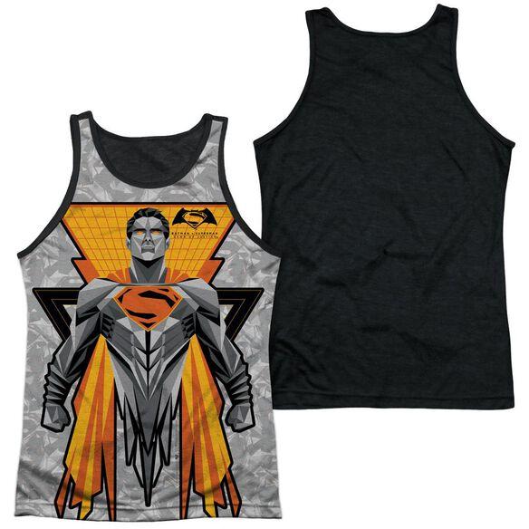 Batman V Superman Super Tech Sub Adult Poly Tank Top Black Back