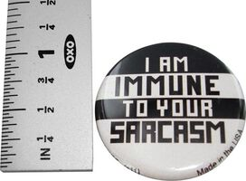 Big Bang Theory Immune Sarcasm Button