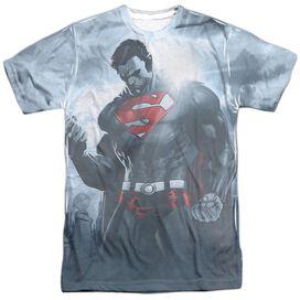 Superman Light Of The Sun Short Sleeve Adult 100% Poly Crew T-Shirt