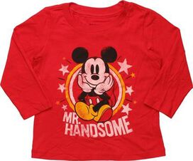 Mickey Mouse Mr Handsome Long Sleeve Toddler Shirt