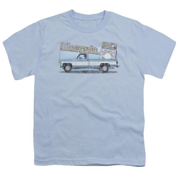 Chevrolet Old Silverado Sketch Short Sleeve Youth Light T-Shirt
