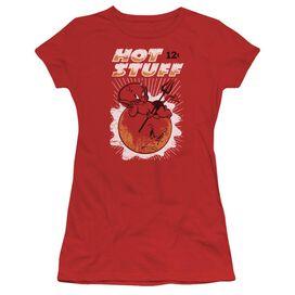 Hot Stuff On The Sun Short Sleeve Junior Sheer T-Shirt