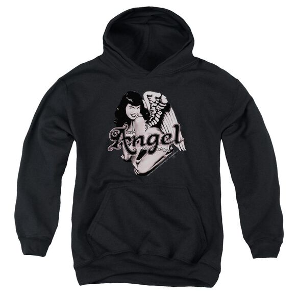 Bettie Page Bettie Angel Youth Pull Over Hoodie