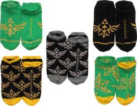 Zelda Multi Crests 5 Pair Ankle Socks Set