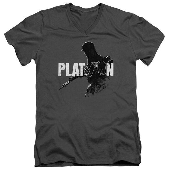 Platoon Shadow Of War Short Sleeve Adult V Neck T-Shirt