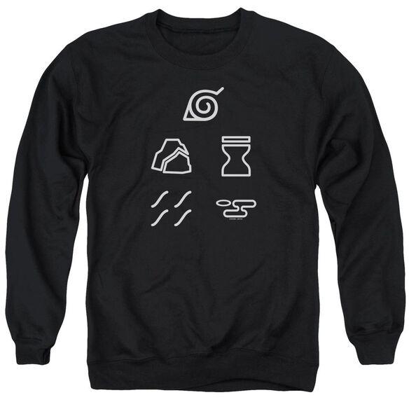 Naruto Shippuden Village Symbols Adult Crewneck Sweatshirt