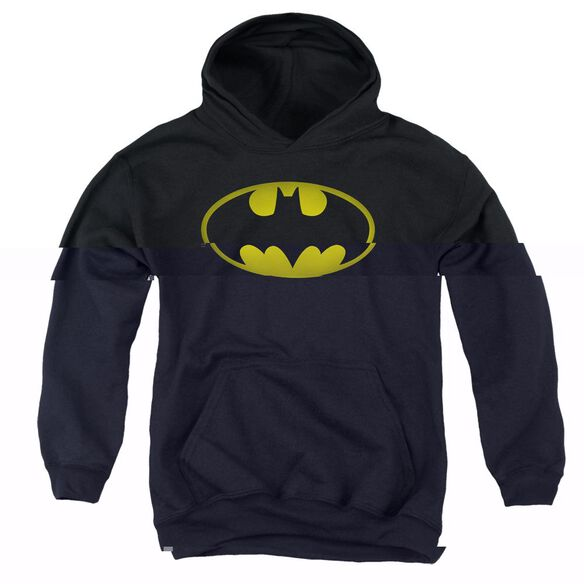 Batman Washed Bat Logo Youth Pull Over Hoodie