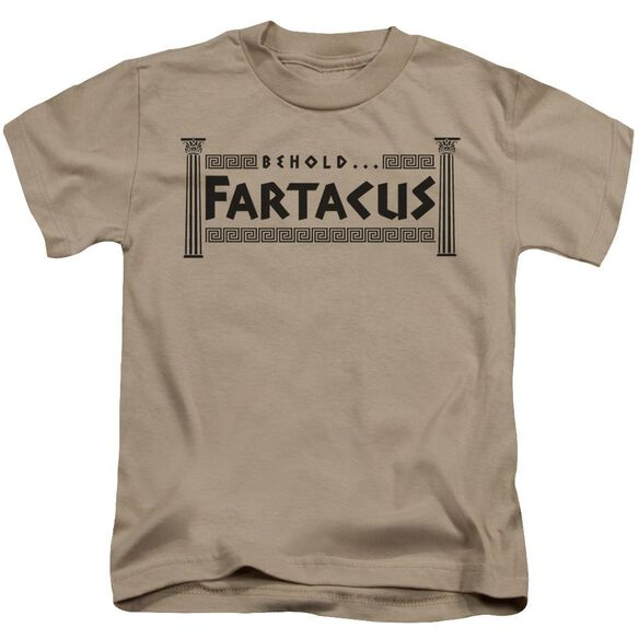 Fartacus Short Sleeve Juvenile Sand T-Shirt