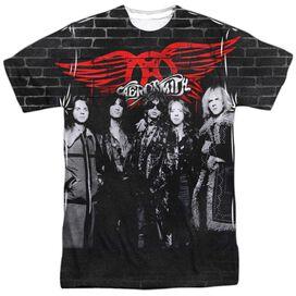 Aerosmith Brick Paint Short Sleeve Adult Poly Crew T-Shirt