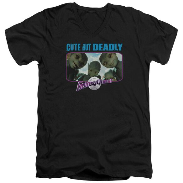 Galaxy Quest Cute But Deadly Short Sleeve Adult V Neck T-Shirt