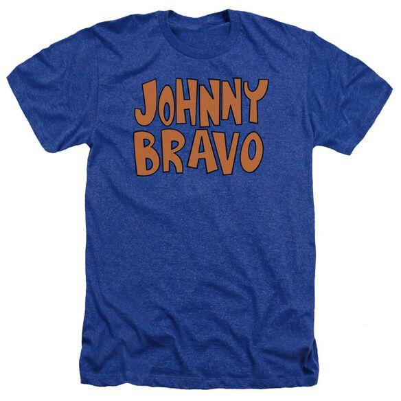 Johnny Bravo Jb Logo Adult Heather Royal