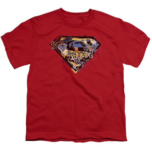 SUPERMAN AMERICAN WAY - S/S YOUTH 18/1 - RED T-Shirt