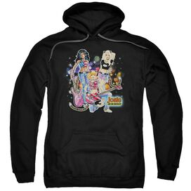 Archie Comics Pussycats Rock Adult Pull Over Hoodie Black