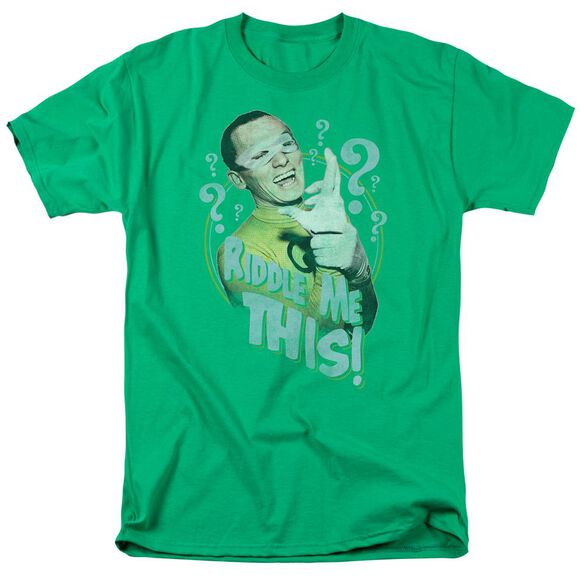 Batman Classic Tv Riddle Me This Short Sleeve Adult Kelly T-Shirt