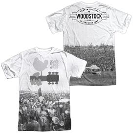 Woodstock Crowd (Front Back Print) Short Sleeve Adult Poly Crew T-Shirt