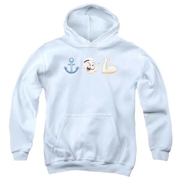 Popeye Emoji Youth Pull Over Hoodie