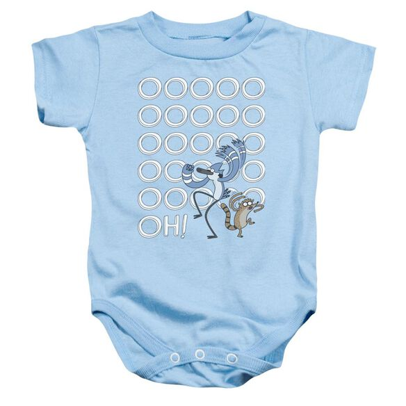 The Regular Show Oooooh Infant Snapsuit Light Blue