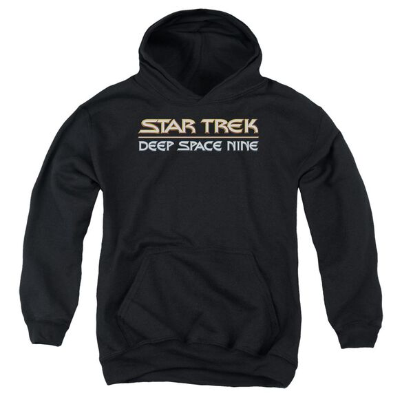 Star Trek Deep Space Nine Logo-youth Pull-over Hoodie - Black