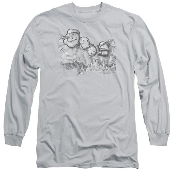 Popeye Pop Rushmore Long Sleeve Adult T-Shirt