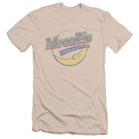 Moon Pie Distressed Retro Logo Short Sleeve Adult T-Shirt