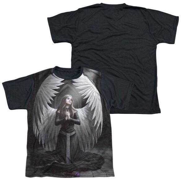 Anne Stokes Prayer For The Fallen Short Sleeve Youth Front Black Back T-Shirt