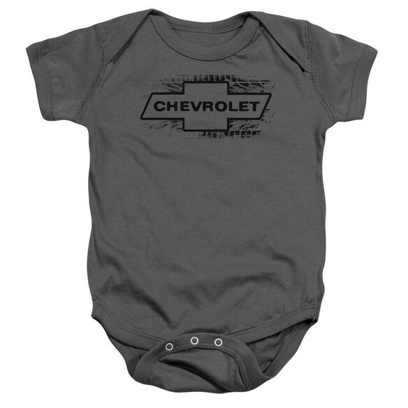 Chevrolet Bowtie Burnout Infant Snapsuit Charcoal